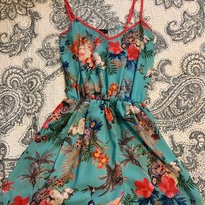 LF Romper in Tropical Print